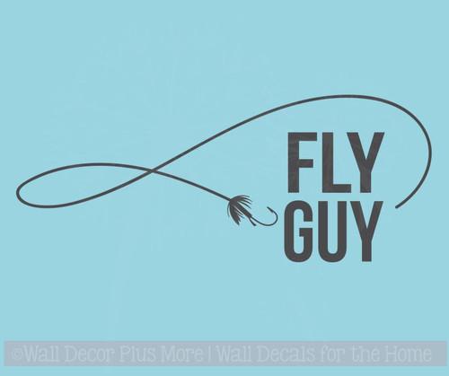 Fly Guy Fishing Car Decals Vinyl Window Sticker for Fisherman Truck