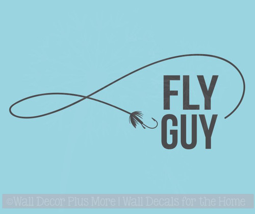 Fly Guy Fishing Car Decals Vinyl Window Sticker for Fisherman Truck