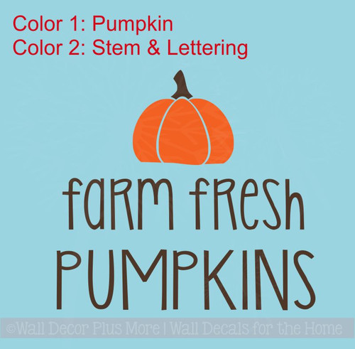 Farm Fresh Pumpkins Wood Sign Metal with Quote Hanging Wall Art 2-Color, 3 Sign Choices