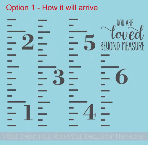 Ruler Growth Chart Quote Options Nursery Height Chart Vinyl Stickers