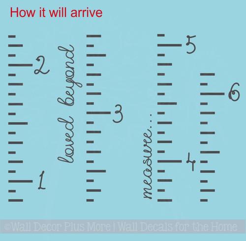 Ruler Growth Chart Loved Beyond Measure Script Nursery Wall Growth Chart