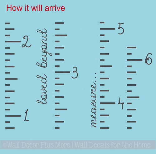 Ruler Growth Chart Loved Beyond Measure Script Nursery Wall Growth Chart