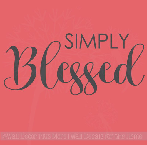 Simply Blessed Fall Home Decor Wall Decals Vinyl Lettering Stickers