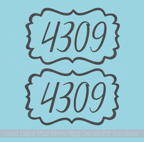 Mailbox Stickers Hand-drawn Bracket Frame Personalized Number Decals