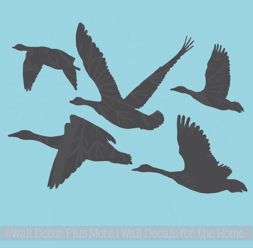 Geese Flying Hunter Wall Decor Vinyl Art Stickers Man Cave Decals