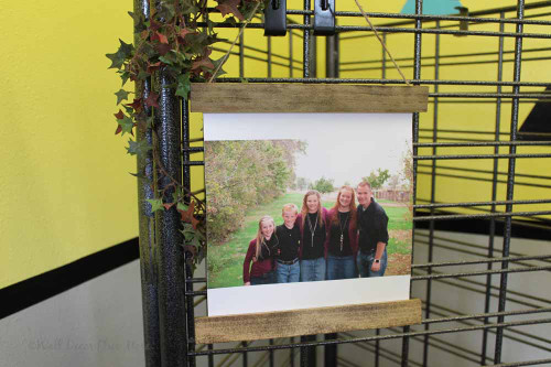 Canvas Photo Prints With Wood Edges Rustic Wall Banner Full Edge Bleed