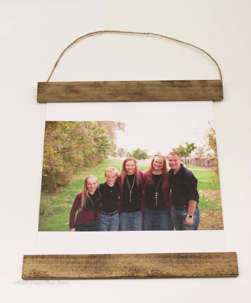 Hanging Canvas Photo Prints With Wood Edges Rustic Wall Banner Full Edge Bleed