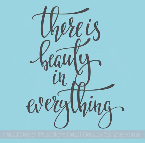 Beauty In Everything Inspirational Wall Quotes Vinyl Lettering Decals