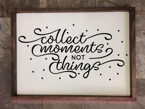 Collect Moments Family Wall Quote Inspirational Vinyl Lettering Decals-Black