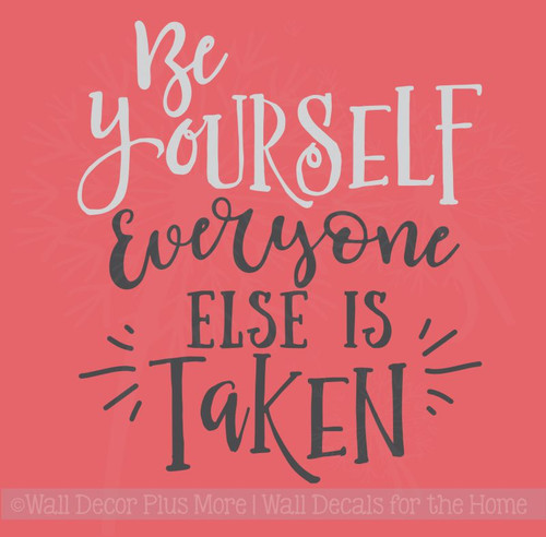 Be Yourself Vinyl Lettering Stickers Motivational Wall Decor Quotes