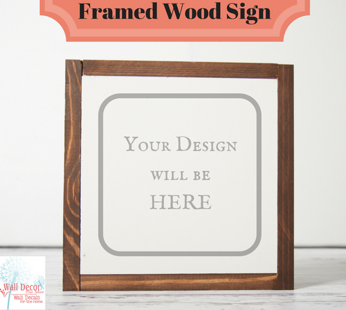 Metal or Wood Sign with Vinyl Decal, Wall Art, 3 Sign Choices, Choose Your Design