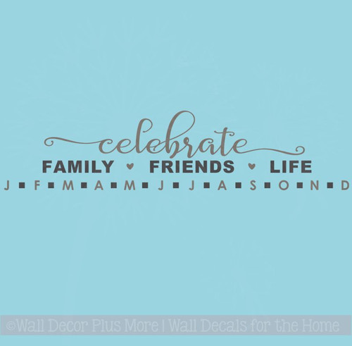 Birthday Board Decal Stickers Celebrate Family Friends Life DIY Gifts
