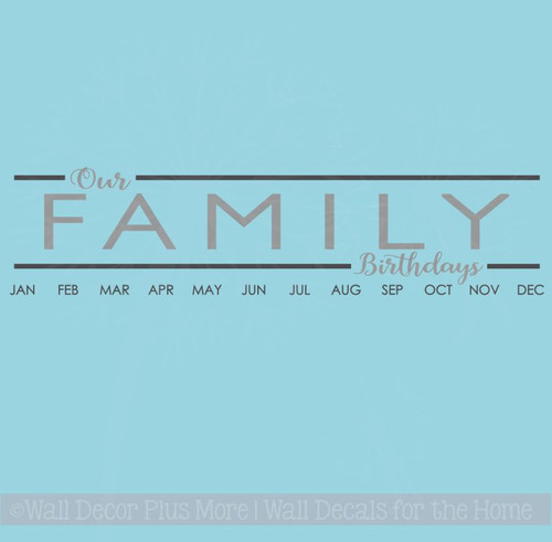 Decals To Create Birthday Board Our Family Birthdays DIY Wall Art Decor