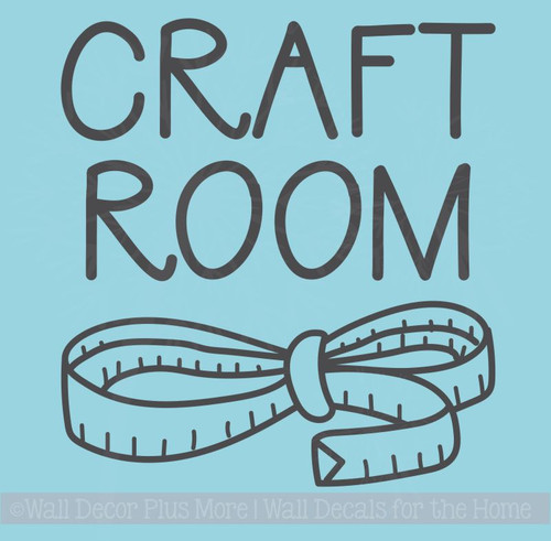 Craft Room Wall Art Stickers Vinyl Lettering Decals Hobby Room Décor
