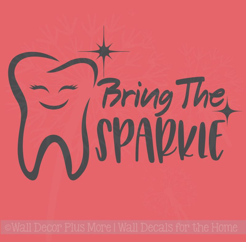 Bring Sparkle Dental Dentist Office Motivational Wall Vinyl Lettering Decals