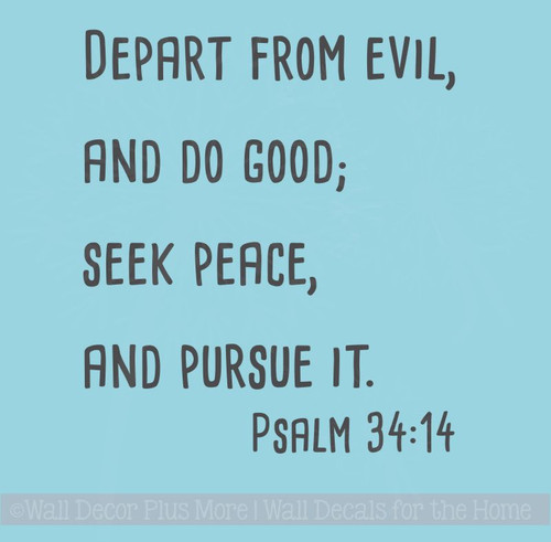 Religious Wall Quotes, Seek Peace Vinyl Lettering Home Decor Stickers