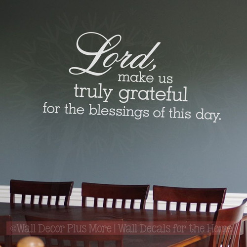 Truly Grateful Blessings Christian Wall Art Wall Decals for Home Decor