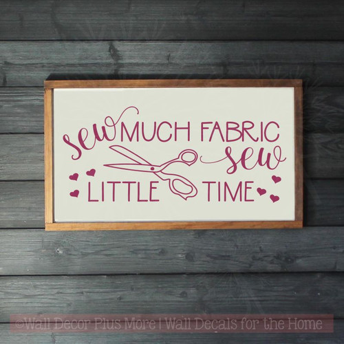 Sewing Room Wall Stickers Sew Little Time Seamstress Vinyl Art Decals Berry