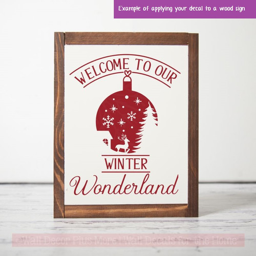 Welcome Winter Wonderland Home Decor Wall Stickers Vinyl Art Decals Red