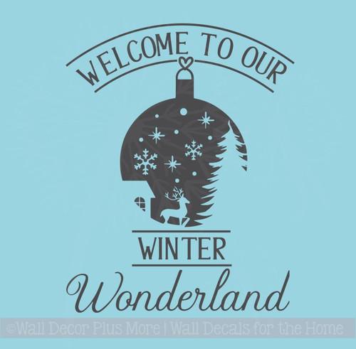 Welcome Winter Wonderland Home Decor Wall Stickers Vinyl Art Decals