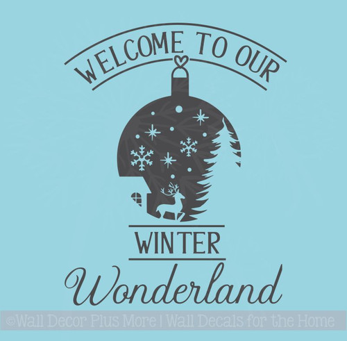 Welcome Winter Wonderland Home Decor Wall Stickers Vinyl Art Decals