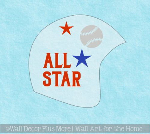 Cranial Helmet Band Decal Sticker Accessories Boys Sports Balls and Stars