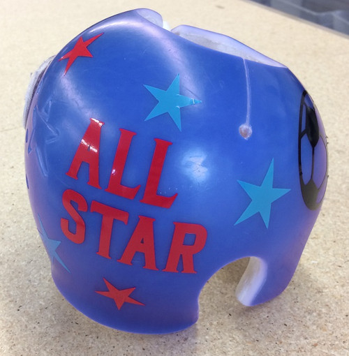 Cranial Helmet Band Decal Sticker Accessories Boys Sports Balls and Stars, 2-Color Red and Turquoise All Star