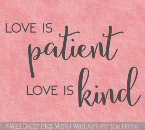 Bedroom Wall Quotes Love Is Patient Love Is Kind Vinyl Lettering Decals