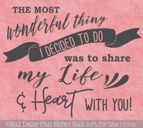 Bedroom Wall Decals Share Life And Heart Vinyl Letter Decor Love Quotes