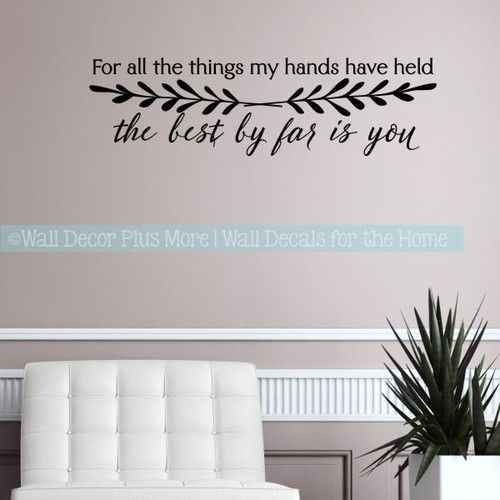 Love Decal Quotes For Bedroom Best By Far Is You Vinyl Art Wall Stickers-Black