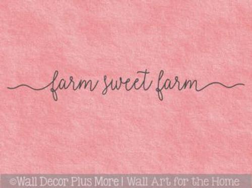 Farmhouse Style Decor Farm Sweet Farm Kitchen Vinyl Lettering Stickers