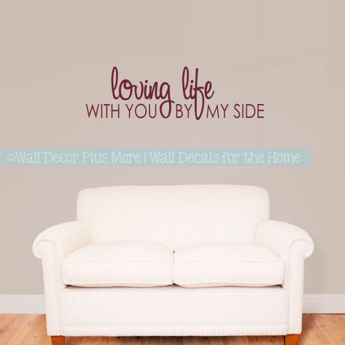 Great Love Wall Quotes Loving Life Master Bedroom Wall Decor Stickers
