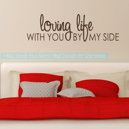 Great Love Wall Quotes Loving Life Master Bedroom Wall Decor Stickers-Chocolate Brown