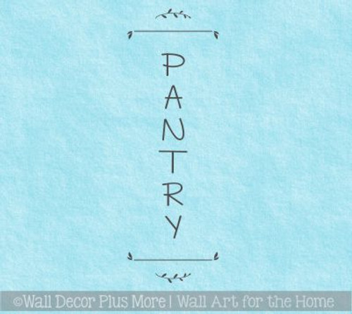 Pantry Kitchen Decor Stickers Vinyl Letters Decals DIY Storage Door Art