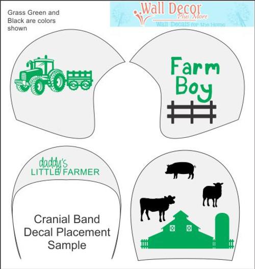 Farm Boy Cranial Helmet Band Decal Sticker Accessories Decor