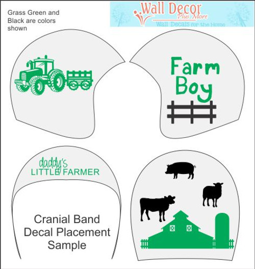 Farm Boy Cranial Helmet Band Decal Sticker Accessories Decor