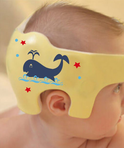 Ahoy Matey Cranial Helmet Band Decal Sticker Accessories Boys Nautical Whale