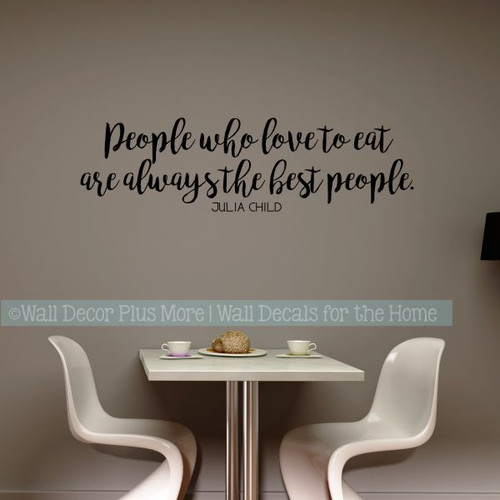 Kitchen Wall Stickers Best People Love To Eat Vinyl Lettering Decals-Black