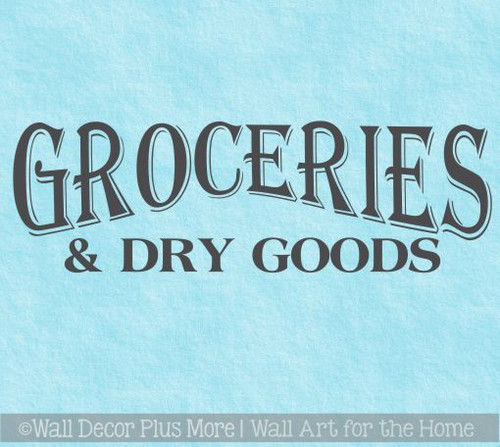 Kitchen Wall Decor Groceries Dry Goods Wall Decal Farmhouse Art Stickers