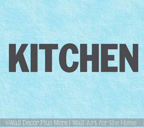 Kitchen Wall Decor Block Letters Vinyl Decals For Kitchen Home Decor