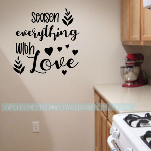 Wall Decals For Kitchen Season Everything With Love Home Decor Stickers