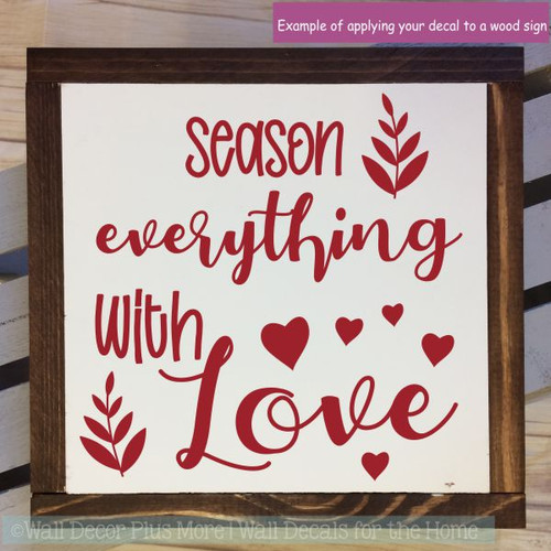 Wall Decals For Kitchen Season Everything With Love Home Decor Stickers-Red