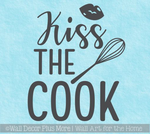 Kitchen Quotes Wall Decor Kiss The Cook Vinyl Art Stickers For The Home