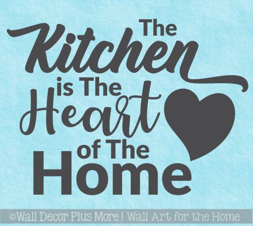 Kitchen Wall Decals Kitchen Heart Of Home Vinyl Lettering Stickers