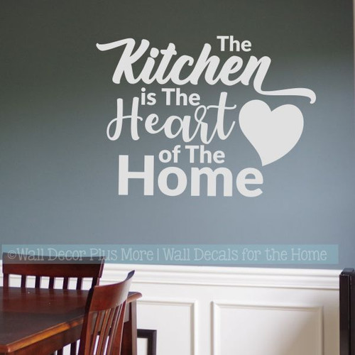 Kitchen Wall Decals Kitchen Heart Of Home Vinyl Lettering Stickers-Light Gray