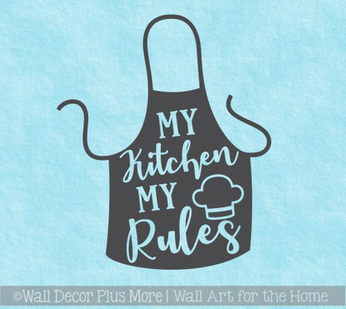 Wall Stickers My Kitchen My Rules Funny Mom Vinyl Art Wall Decals Quote