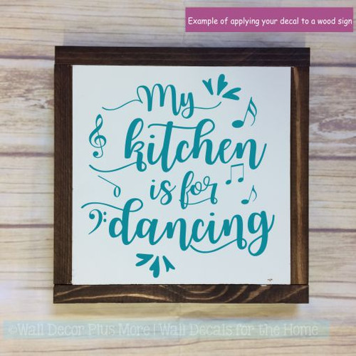 Kitchen Wall Decals Kitchen Is For Dancing Vinyl Lettering Stickers-Teal
