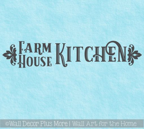 Farmhouse Kitchen Decor Vinyl Lettering Decals for Home Wall Decor
