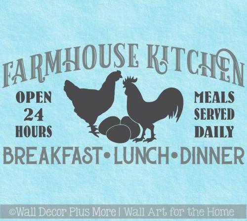 Farmhouse Kitchen Breakfast Wall Decor Stickers Vinyl Art Decals