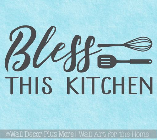 Kitchen Quotes Bless This Kitchen Wall Decor Vinyl Letters Decals